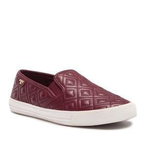 TORY BURCH Jesse Quilted Sneaker in Red Agate 6